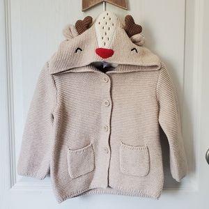 Gap Knit Reindeer Hoodie
